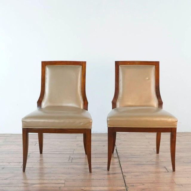 Vintage Baker Upholstered Dining Chairs- A Pair For Sale - Image 13 of 13