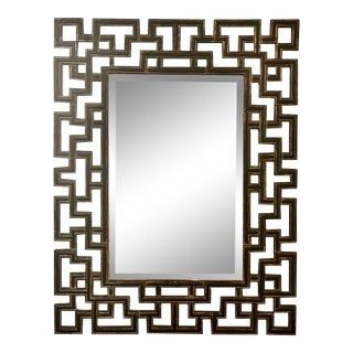 Greek Key Beveled Wall Mirrorby Bombay Co. For Sale