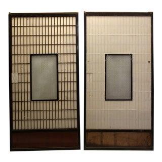 Sugi Yuki Shoji Cedar Japanese Snow Doors - A Pair For Sale