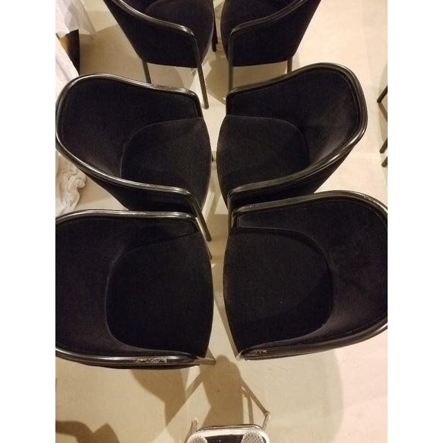 1980s Vintage Ward Bennett for Brickel Associates Walnut & Velvet Mohair Chairs - Set of 10 For Sale In Columbus - Image 6 of 13