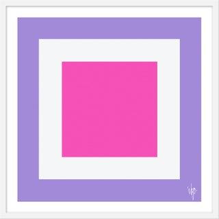 """Medium """"Squared Vi"""" Print by Wendy Concannon, 31"""" X 31"""" For Sale"""
