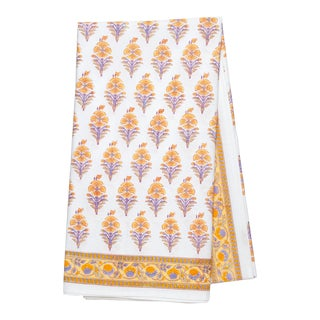 Juhi Flower Tablecloth, 4-seat table - Yellow For Sale