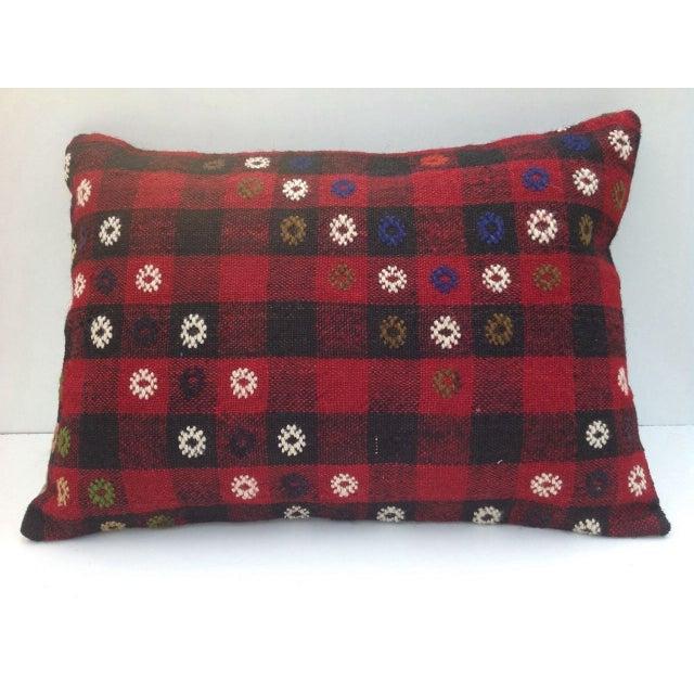 Vintage Turish Kilim Pillow For Sale - Image 5 of 6