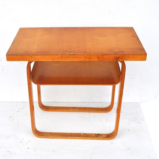 Vintage Alvar Aalto 2-Tiered Birch Table For Sale In Houston - Image 6 of 8