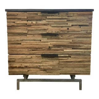 Industrial Modern Reclaimed Wood and Metal Chest of Drawers For Sale