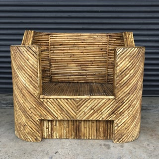 Vintage Split Reed Rattan Club Chair Preview