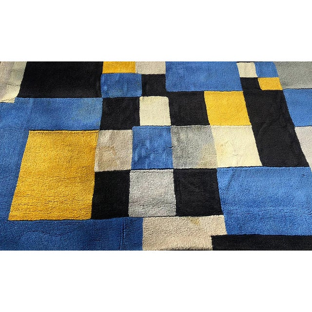 """1980s Limited Edition Rug After Sonia Delaunay - """"Magical Squares"""" For Sale - Image 5 of 7"""