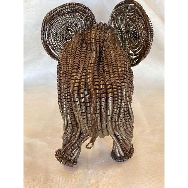 Mid 20th Century Mid Century Elephant Sculpture From Industrial Material For Sale - Image 5 of 13