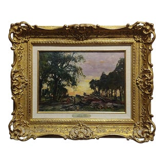 "Henry John Yeend King 19th Century ""View in Surrey Landscape"" Oil Painting C. 1890s For Sale"