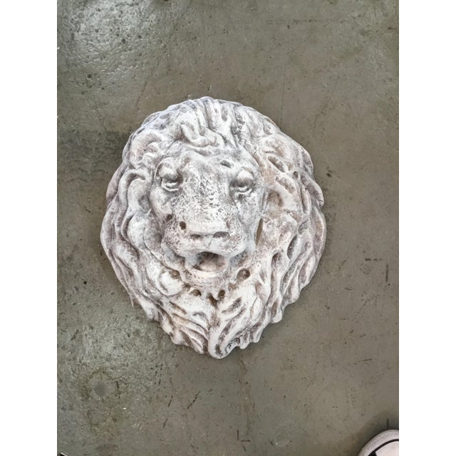 Antique faux finish Italian terra cotta lion mask wall Fountain. Material : terra cotta