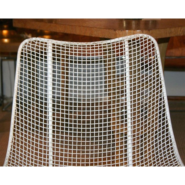 Metal Woodard Jet Age Wire Mesh Outdoor Chairs - Set of 24 For Sale - Image 7 of 10
