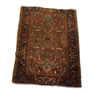 1910 Sarouk Antique Rug - 3′5″ × 4′4″