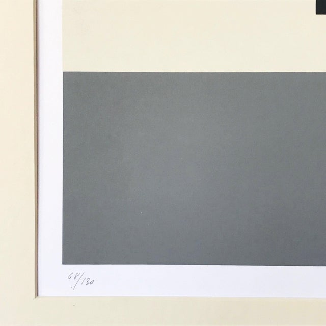 Vintage Geometric Abstract Op Art Serigraph by Anton Stankowski C. 1970s For Sale - Image 4 of 6