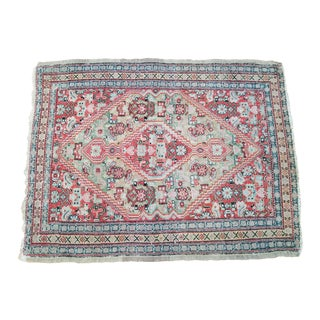 19th Century Vintage Persian Prayer Rug- 2′3″ × 2′10″ For Sale