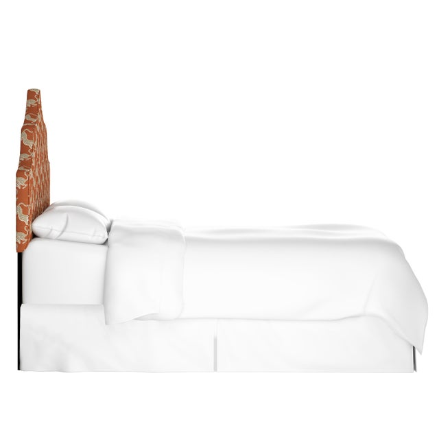 Boho Chic Leopard Run Burnt Orange Full Headboard For Sale - Image 3 of 6
