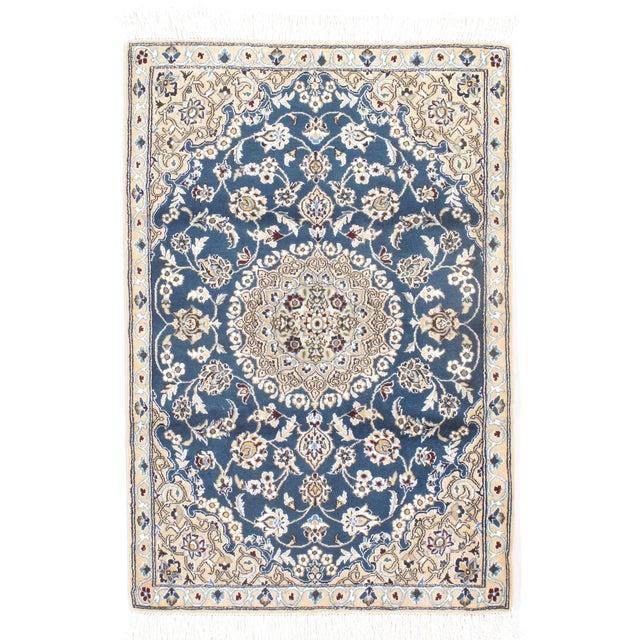 Fine Persian Nain Silk & Wool Rug - 3′ × 4′3″ - Image 1 of 2