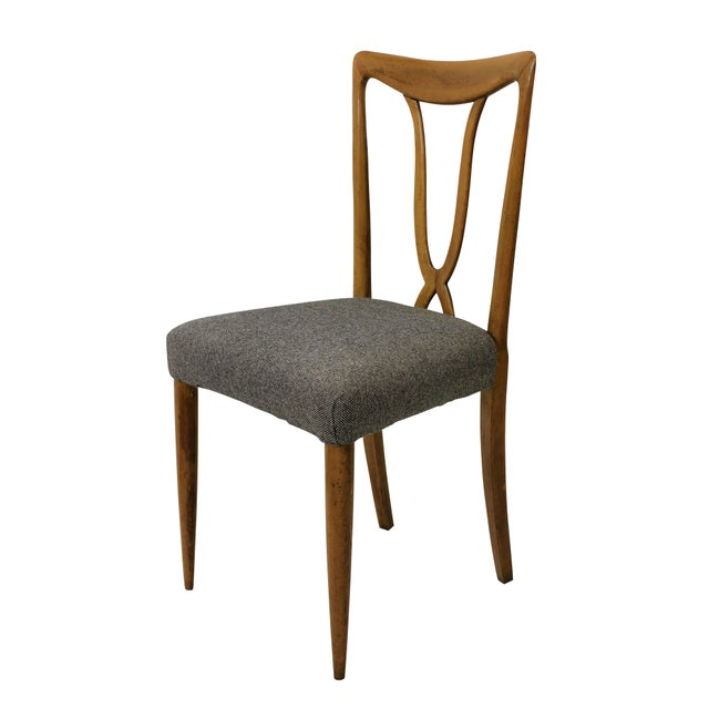 Set of Six Stylish Italian Dining Chairs For Sale - Image 4 of 5
