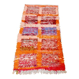 Berber Boucherouite Rug - 3′6″ × 7′ For Sale