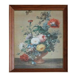 Vintage Michael Janch Floral Still Life Print For Sale