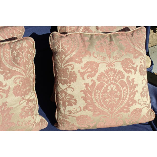 Late 20th Century Late 20 C. Set of 4 Down Filled Possible Fortuny Style For Sale - Image 5 of 8