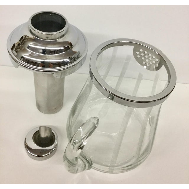 Black 1960s Mid-Century Modern Mint Glass Decanter For Sale - Image 8 of 11