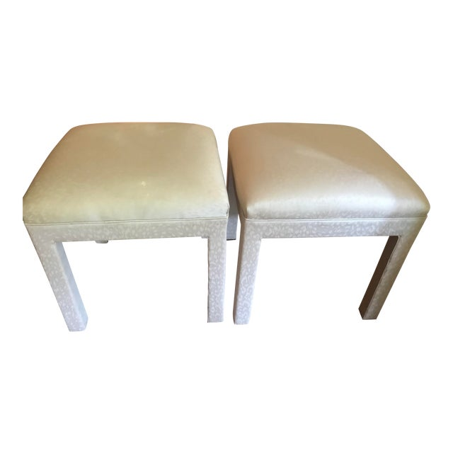 1970s Vintage Parsons Stools or Benches- a Pair For Sale