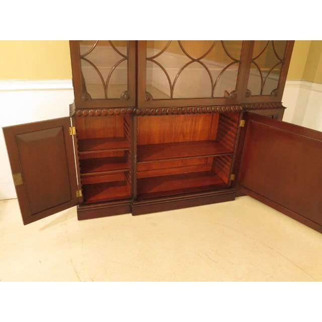 Brown Kittinger Colonial Williamsburg Model CW-38 Mahogany Breakfront Bookcase For Sale - Image 8 of 11