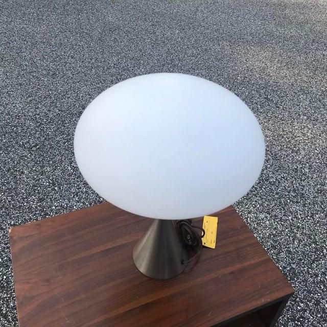 Laurel Mushroom Lamp in Satin Chrome For Sale - Image 12 of 13