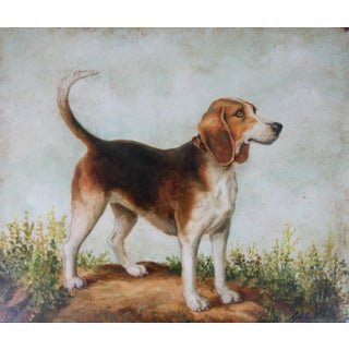 Large Dog Portrait Oil Painting Preview