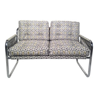 Zermatt Tubular Chrome Sling-Back Settee