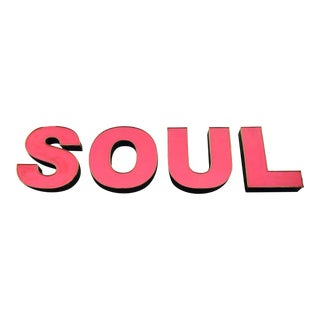 """Soul"" 8 Foot Red Neon Sign"