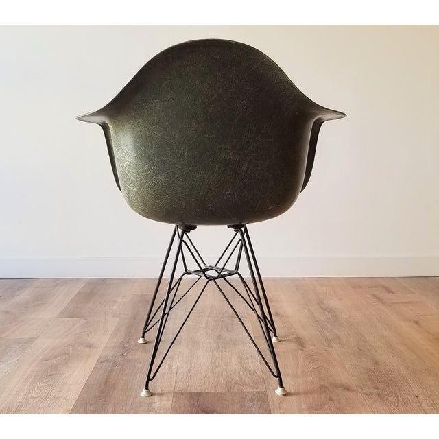 1960s 1960s Olive Green Eames DAR Eiffel Chair For Sale - Image 5 of 13