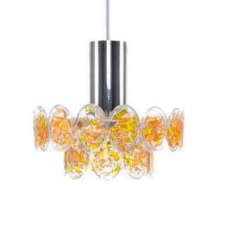 Orange and Yellow Pendant Lighting by Claus Colby For Sale