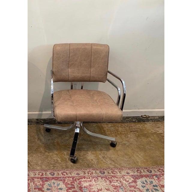 1980s Swivel Rocker Desk Chair For Sale - Image 11 of 11