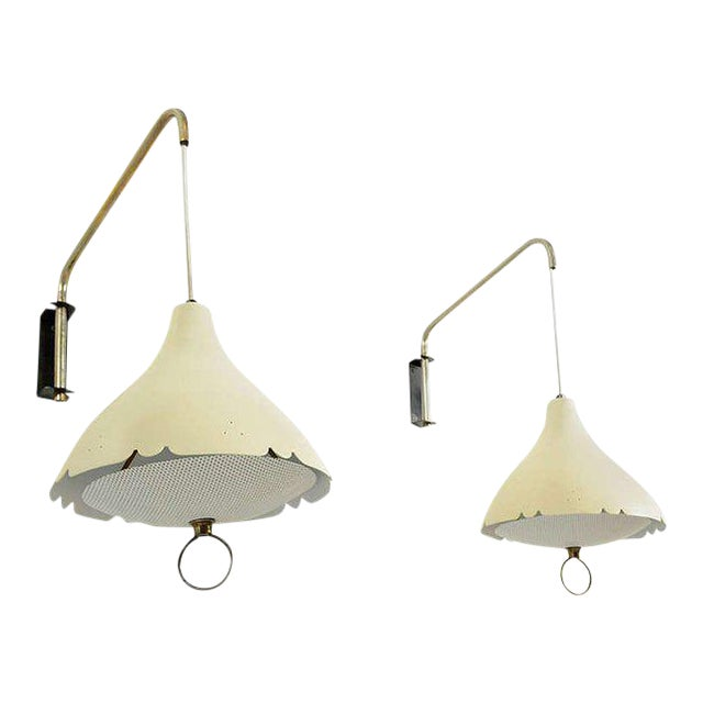 Metal Mid-Century Modern Pair of Wall Sconces After Lightolier For Sale - Image 7 of 11