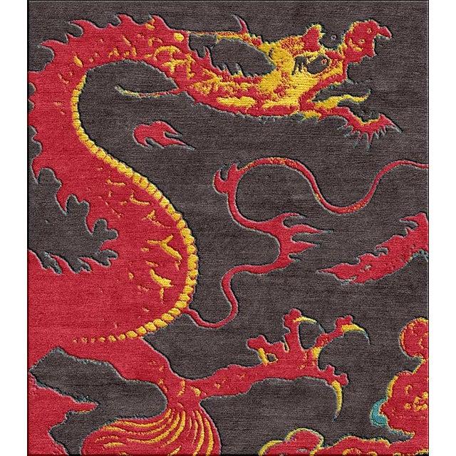 "Shivhon ""Ryu"" Dragon Motif Hand-Tufted Area Carpet - 10.5 x 15' For Sale - Image 4 of 4"