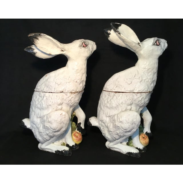 Italian Italian Bunny Tureens - a Pair For Sale - Image 3 of 13