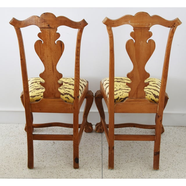 Black Italian Scalamandre Le Tigre (Tiger) Velvet Side Chairs - Pair For Sale - Image 8 of 13
