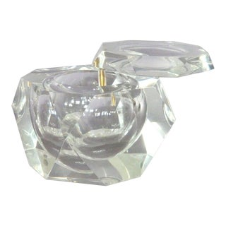 Faceted Swivel-Top Ice Bucket For Sale