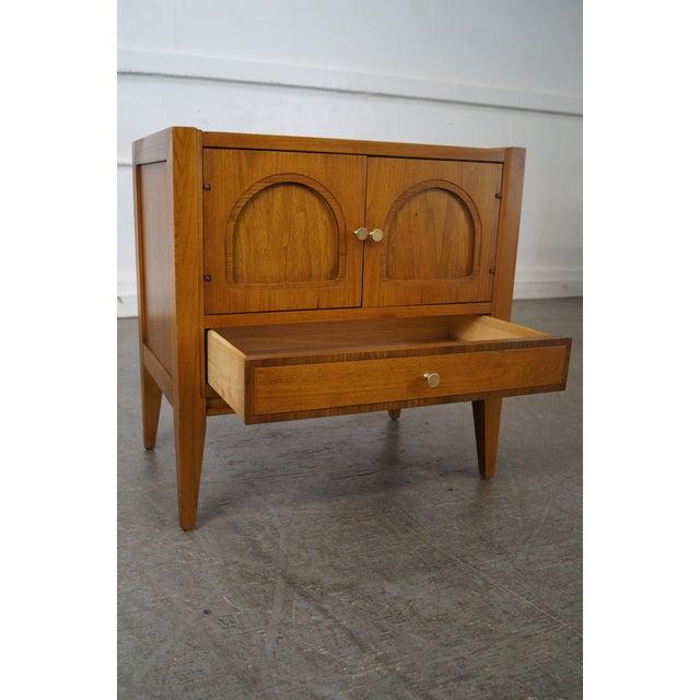 Brown Basic Witz Mid-Century Modern Walnut Nightstand For Sale - Image 8 of 10
