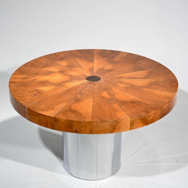 1970s Paul Evans Burl Wood Cityscape Dining Table For Sale - Image 5 of 11