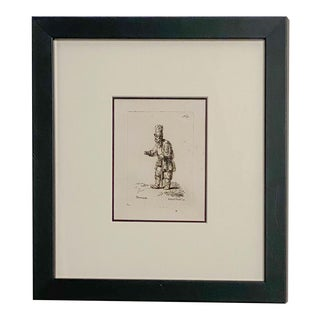 Late 18th Century Rembrandt Etching #40, by Francesco Novelli For Sale