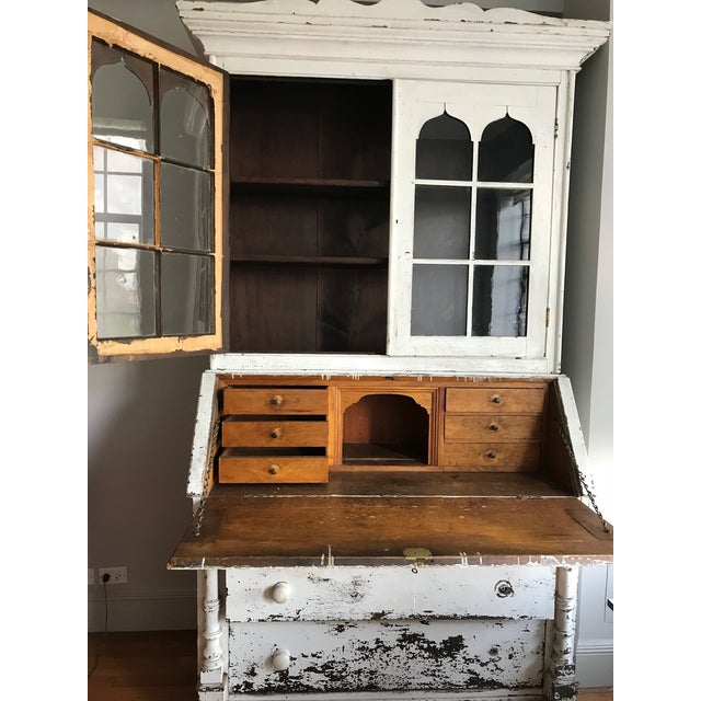 1875 Mahogany Secretary in Paint For Sale - Image 4 of 6