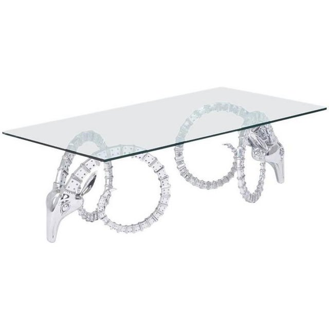 This pair of Ibex coffee table bases by Alain Chervet is crafted of aluminum in high relief. These forms have become a...