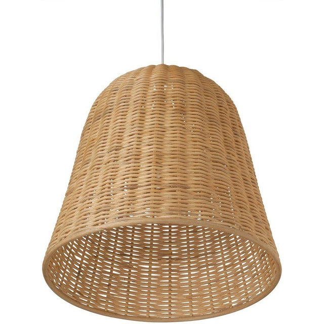 Nautical Vintage Rattan Wicker Pendant For Sale - Image 3 of 4