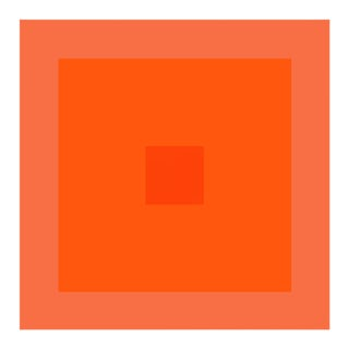 """Color Study #19"" Unframed Orange Geometric Print For Sale"