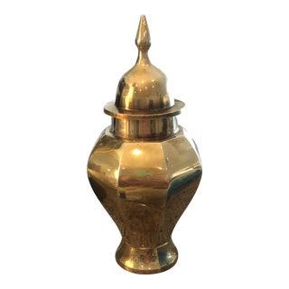 Vintage 1960's Ernesco Solid Brass Urn/Ginger Jar For Sale