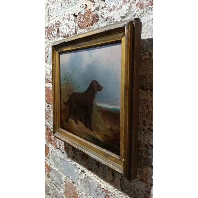 Brown 1853 Charles Bilger Spalding Irish Setter Original Oil Painting For Sale - Image 8 of 10