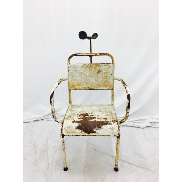 Industrial Vintage Medical Chair For Sale - Image 3 of 7