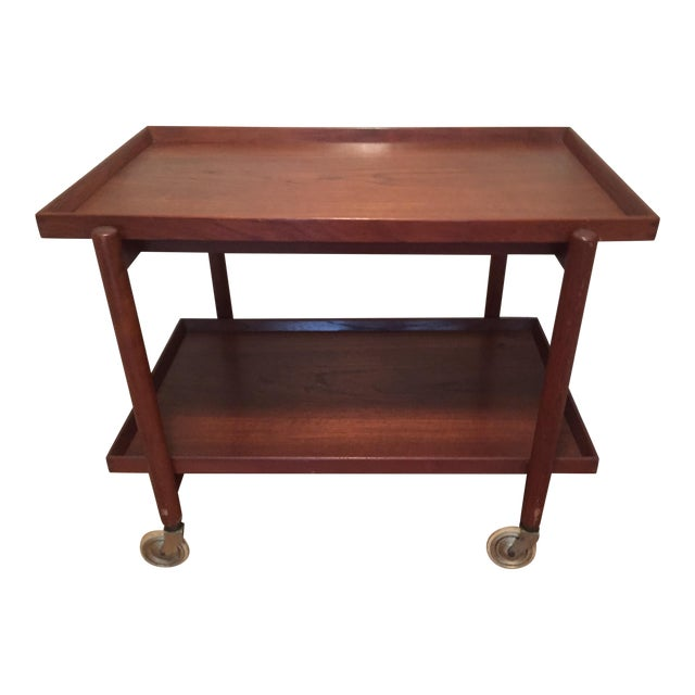Poul Hundevad Teak Mid-Century Bar Cart - Image 1 of 8